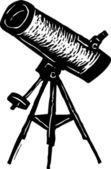 Illustrazione di xilografia del telescopio — Vettoriale Stock