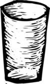 Vektor-illustration von probenmaterial cup — Stockvektor