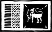 Woodcut Illustration of Sri Lanka Flag — Stock Vector