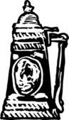 ксилография иллюстрации пива штайн — Cтоковый вектор