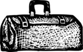 Woodcut Illustration of Doctor Bag — Vector de stock