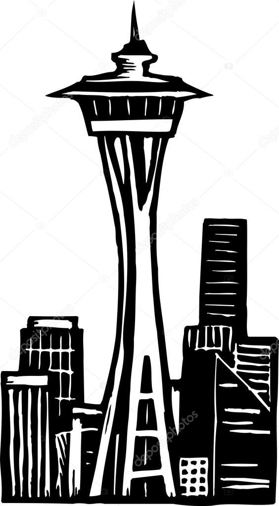 clipart of space needle - photo #44