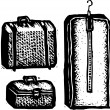 Luggage and Suitcases — Vektorgrafik