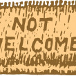 Not Welcome Mat — Stock Vector