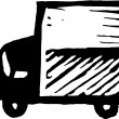 Stock Vector: Moving Van