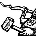 ������, ������: Vector Illustration of Thor