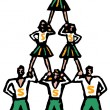 Stock Vector: Cheerleading Pyramid