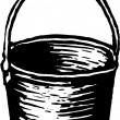 Stock Vector: Bucket or Pail