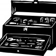 Tool Chest — Stock Vector