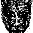 Woodcut Illustration of Werewolf — Stock Vector