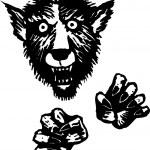 Woodcut Illustration of Werewolf — Stock Vector #30558413