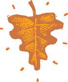 Illustration of Leaf — Stock Vector