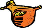 Bird Sculpture — Stock Vector