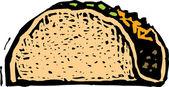 Illustration of Taco — Stock Vector