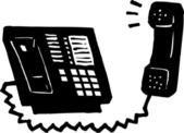 Illustration of Telephone — Stock Vector