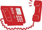иллюстрация телефон — Cтоковый вектор