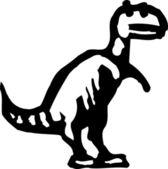 Ikonen för t rex dinosaurie — Stockvektor