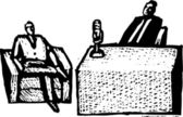 Vector Illustration of Talk Show — Stock Vector