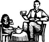 Ilustração em vetor de chá — Vetorial Stock
