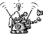 векторная иллюстрация мышление цоколя — Cтоковый вектор