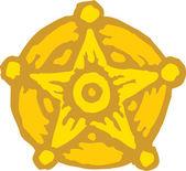 Pictogram van sheriff ster badge — Stockvector