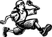 Garoto feliz correndo — Vetorial Stock