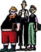 группа мальчиков — Cтоковый вектор