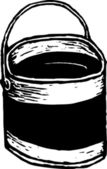 Cubo de pintura — Vector de stock