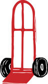 Dolly or Handtruck — Stock Vector