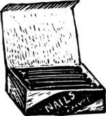 Box of Nails — Stock Vector