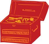 工具箱中的插图 — 图库矢量图片