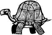 Vector illustration of Tortoise — Stok Vektör