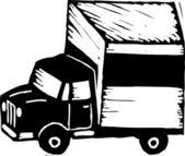 Woodcut Illustration of Trucker — Stock Vector