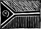 Woodcut Illustration of Vanuatu Flag — 图库矢量图片