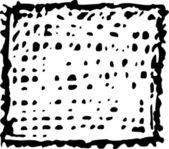 Woodcut Illustration of Washcloth — Stock Vector