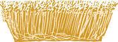 Träsnitt illustration av vete — Stockvektor
