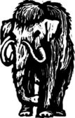 Woodcut Illustration of Woolly Mammoth — Wektor stockowy