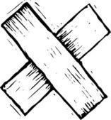 ксилография иллюстрация бинта — Cтоковый вектор