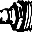 Stockvektor : Woodcut Illustration of Spark Plug