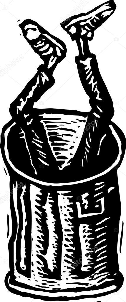 Houtsnede illustratie van tiener jongen gedumpt in de prullenbak stockvector ronjoe 30603525 - Teen moderne ruimte van de jongen ...