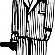 Vector Illustration of 1920s Gangster — Imagen vectorial