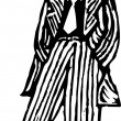Illustration of 1940s Man Wearing Zoot Suit — Stockvectorbeeld