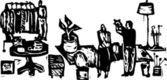 Vector Illustration of Yard Sale — Stock Vector