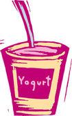 Illustration av yoghurt — Stockvektor
