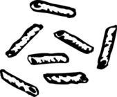 Illustration av ziti pasta — Stockvektor
