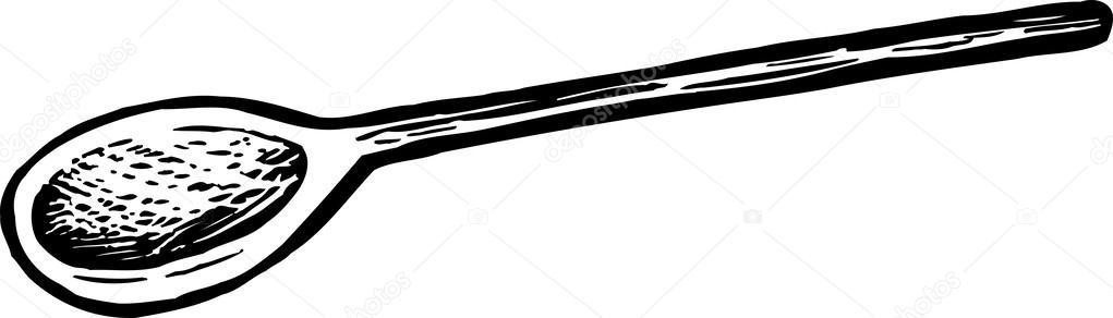 Vector Illustration of Wooden Spoon — Stock Vector ...