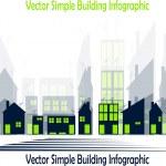 Simple buildings — Stock Vector