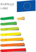 Energy label — Stock Vector