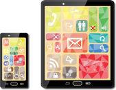 смарт-телефонов — Cтоковый вектор