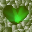 Green glass heart — Stock Photo #51330145
